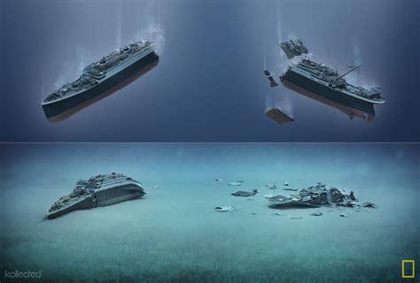titanic sinking animation national geographic titanic 100 years kollected