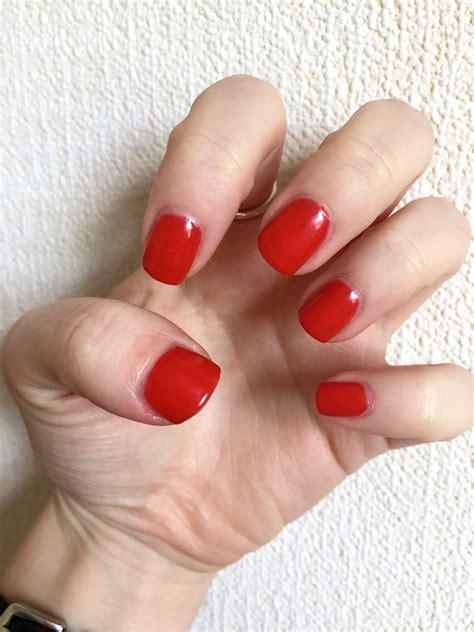 sensationail gel nail polish kit starter deluxe scarlet nails gorgeous mammafulzo thoughts