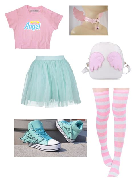 U0026quot;Little angelu0026quot; by barnowlkitten liked on Polyvore featuring Boohoo angel and ddlg | Fashion ...