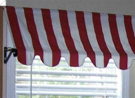 country french cafe awning window valance  red  homestyled  red white