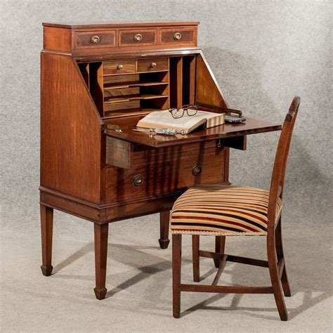 bureau olier vintage antique writing desk bureau edwardian mahogany antiques
