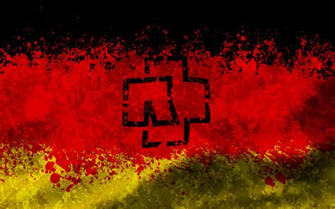 Rammstein Logo Deutschland Flag By Algrad On Deviantart