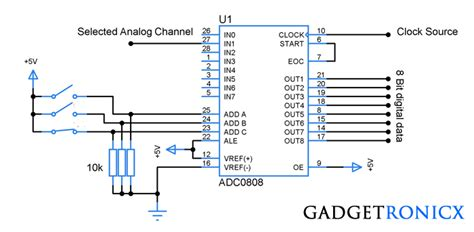 analog  digital converter circuit  adc electronic circuits analog  digital