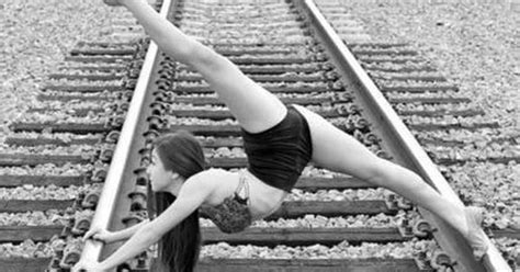 #Dance #TrainTracks #Flexibility   Crazy dance moves
