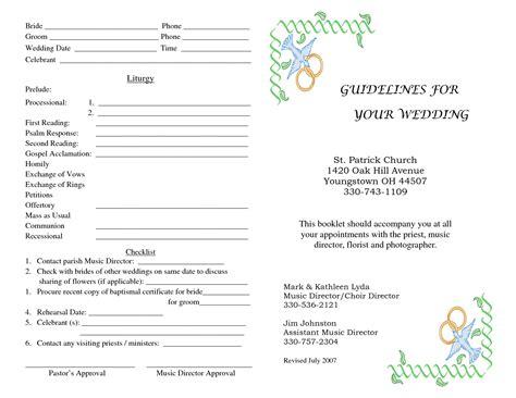 church wedding program church program template e commercewordpress