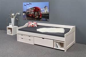 Kinderbett 80 X 200 : kinderbett sonno 90 x 200 modell flo funktionsbett wei mit schubladen ebay ~ Indierocktalk.com Haus und Dekorationen