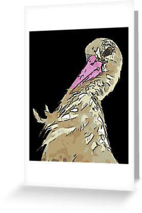 white stork  incredulous expression greeting card