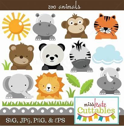Svg Animals Zoo Animal Clip Animales Digital