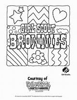 Scout Coloring Brownie Trefoil Brownies sketch template