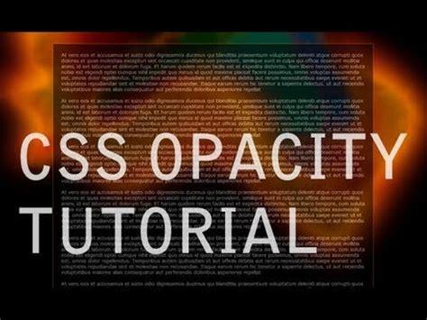 render transparent web site elements css opacity tutorial youtube