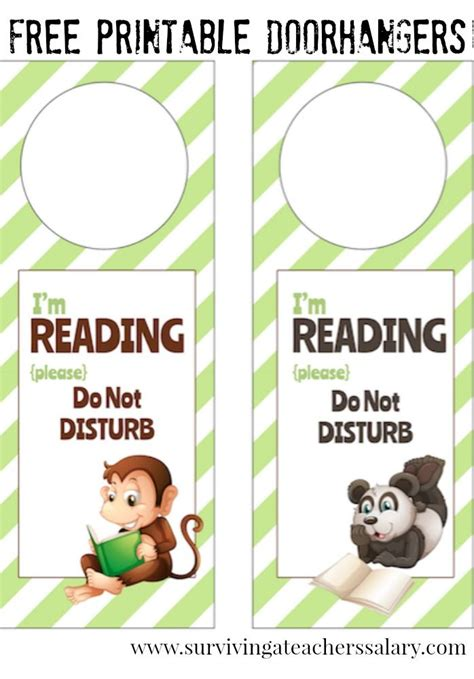 im reading printable door hanger  book nooks door