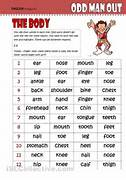 The Good Old Activity Of Odd One Out Here Used On Body Related Odd One Out Worksheet Pics Photos Odd One Out Printable English Worksheet Free Esl Paid Members Odd One Out Paid Members Odd One Out