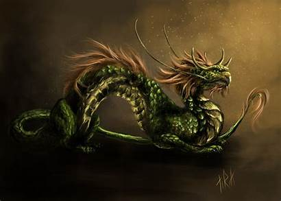 Dragon Japanese Fantasy Oriental Chinese Poster Painting