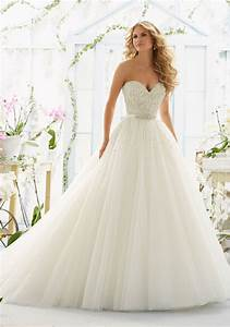 pearl diamante and laser cut on tulle wedding dress With wedding dresses