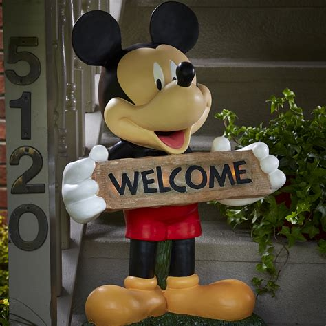disney mickey large solar door greeter limited