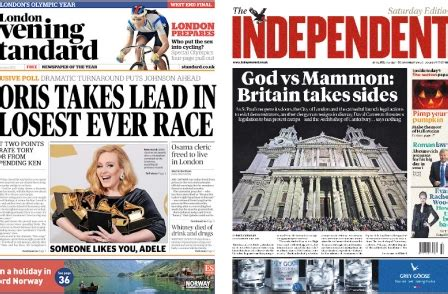Independent and Evening Standard advertise for three ...