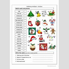 Vocabulary Matching Worksheet  Xmas Worksheet  Free Esl Printable Worksheets Made By Teachers