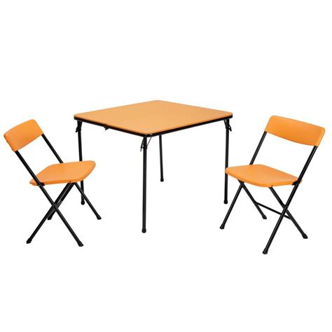cosco 3 orange folding table and chair set