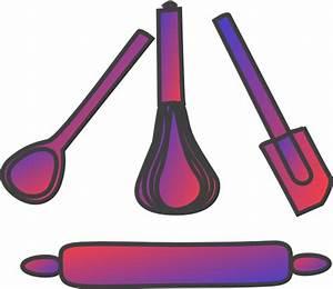 Bakery Utensils Gradient Red Blue Clip Art at Clker.com ...