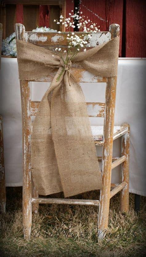 best 25 burlap chair sashes ideas on wedding