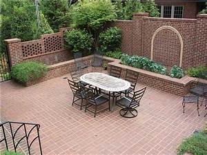 Image of: Outdoor Beautiful Brick Courtyard Design Idea Brick Brick Patio Designs For Your Garden