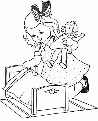 Coloring Doll Pages