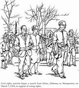 Coloring Pages Civil Rights Bridges Ruby History African Selma Movement Colouring King Dover Publications Luther Martin Books Month Adult March sketch template