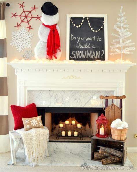 winter fireplace mantel decorating ideas