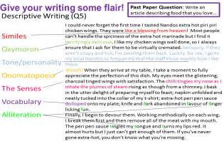 How To Describe Your Writing Skills On A Resume by Language Writing Tips Miss S Gcse