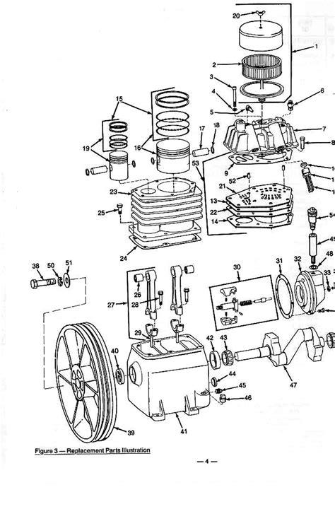 Speedaire 3Z492A Air Compressor Parts
