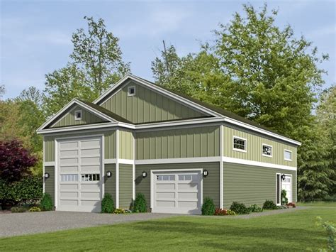 Rv Garage Plans  Rv Garage Plan With Tandem Car Bay Or