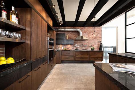 cuisine loft loft cuisine bois noyer frêne quartz