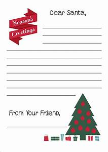 Free printable letter to santa writing paper for Christmas paper to write letters on