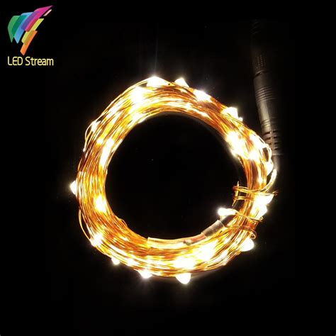 12vdc 10m 33ft 100led decorative tiny led copper wire