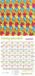 Crochet  Granny Spike Stitch Diagram