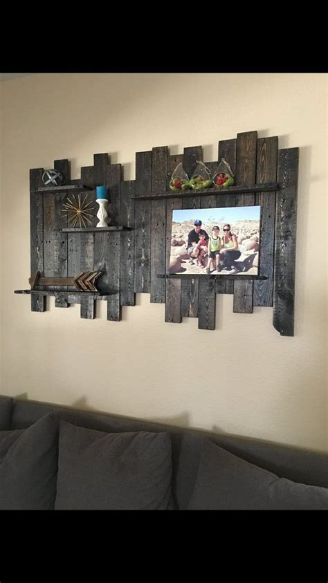 Wall Decor Idea Wood Wall by Rustic Reclaimed Wood Wall Decor Shelving 60 Wide X 36