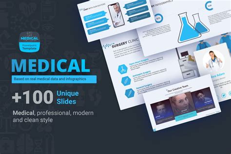 medical healthcare powerpoint templates  theme