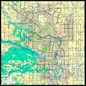Calgary, Alberta Digital Vector Maps - Download Editable ...