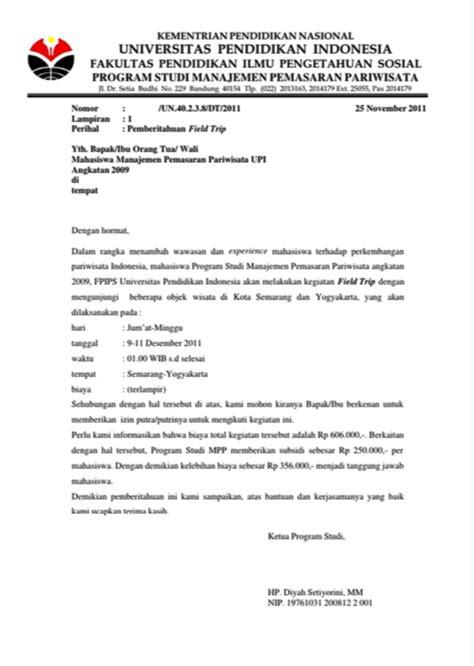 contoh surat pemberitahuan terbaik  fahmipedia