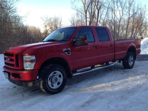 Purchase Used 2008 Ford F350 Crew Cab Diesel Long Box-red