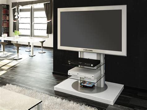 Roma White Swivel High Gloss TV Stand   Modern TV Stands