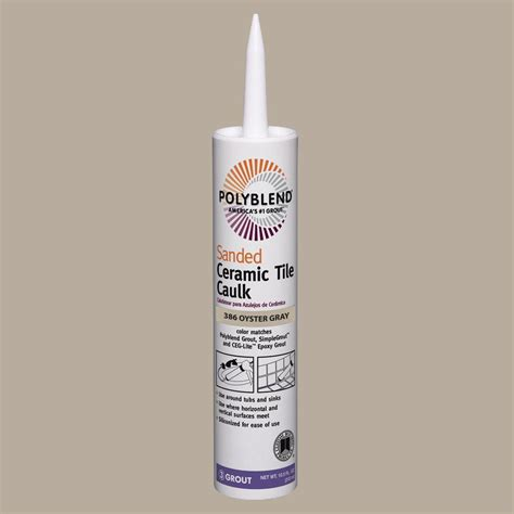 polyblend sanded ceramic tile caulk oyster gray custom building products polyblend 386 oyster gray 10 5