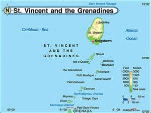 Bodies of water of Saint Vincent and the Grenadines St. VIncent and the Grenadines