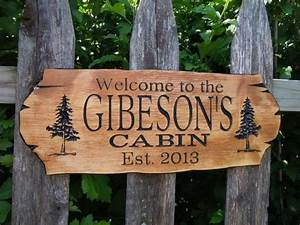 cabin sign last name personalized wooden carved rustic With exterior wooden sign letters