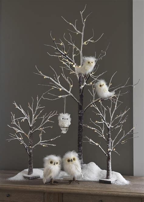 white owl pair chenille s 2 ts 3252319 new raz christmas