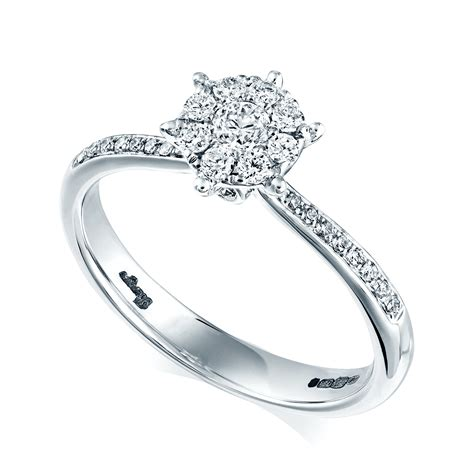 berry s 18ct white gold solitaire engagement ring