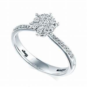berry39s 18ct white gold diamond set solitaire engagement ring With white gold wedding ring sets uk