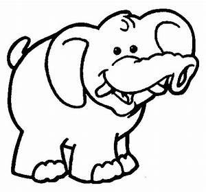 Dibujo De Elefante 6 Para Colorear