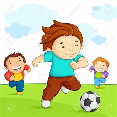 Playing Clipart Soccer Outside Children Football Clip