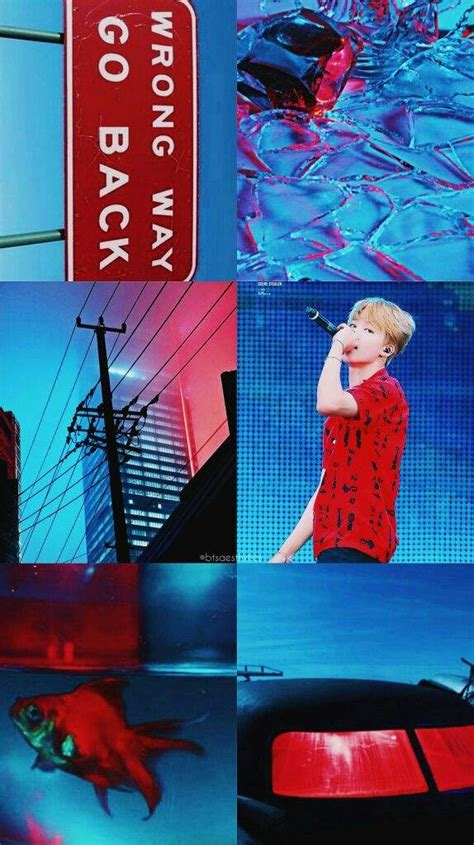 red blue aesthetic armys amino